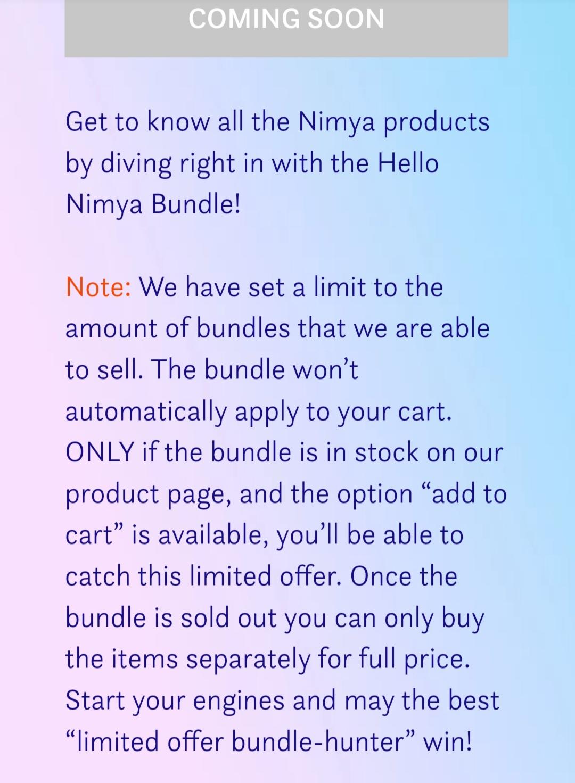 Hello Nimya Bundle Nimya by NikkieTutorials